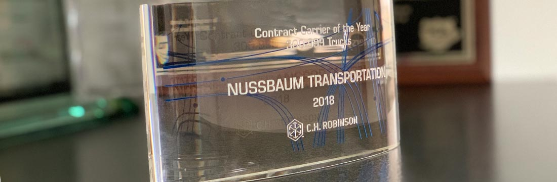 2018 Carrier of the Year Award from CH Robinson